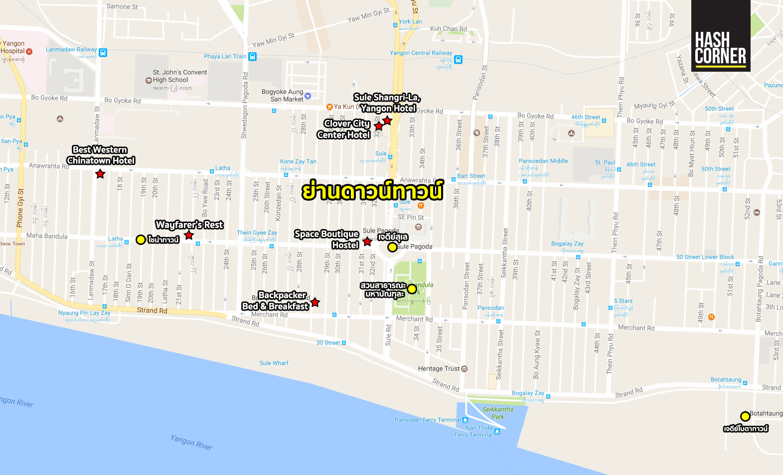 yangon-hotel-map